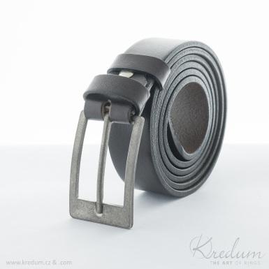 Strong 3X - nerezová spona na opasek + kožený pásek 3X - SK4135