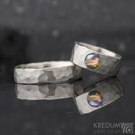 Prsteny DRAILL titan matný a dámský je s perletí