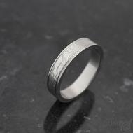 Kasiopea steel - 60 4,5 1,5 75% světlý - damasteel snubní prstenyk