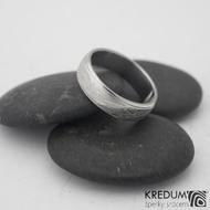Kasiopea steel - damasteel snubní prsteny, 58 5,5 mm 1,5, 50% sv k 0945  (5)