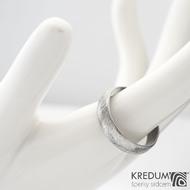 Klásek - Kovaný nerezový snubní prsten, SK1151