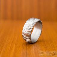 Klasik Bark - velikost 57, šířka 8, tloušťka 1,6, světlý, profil B - Nerezové snubní prsteny, SK1872 (3)