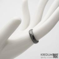 Klasik DLC lesklý - 49,5 4,6 1,3 - Nerezový snubní prsten sk1185 (3)
