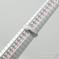 Klasik Draill matný - velikost 58 s vnitřním zaoblením, šířka 5 mm, tloušťka 1,5 mm - Kovaný prsten z nerezové oceli, SK2104