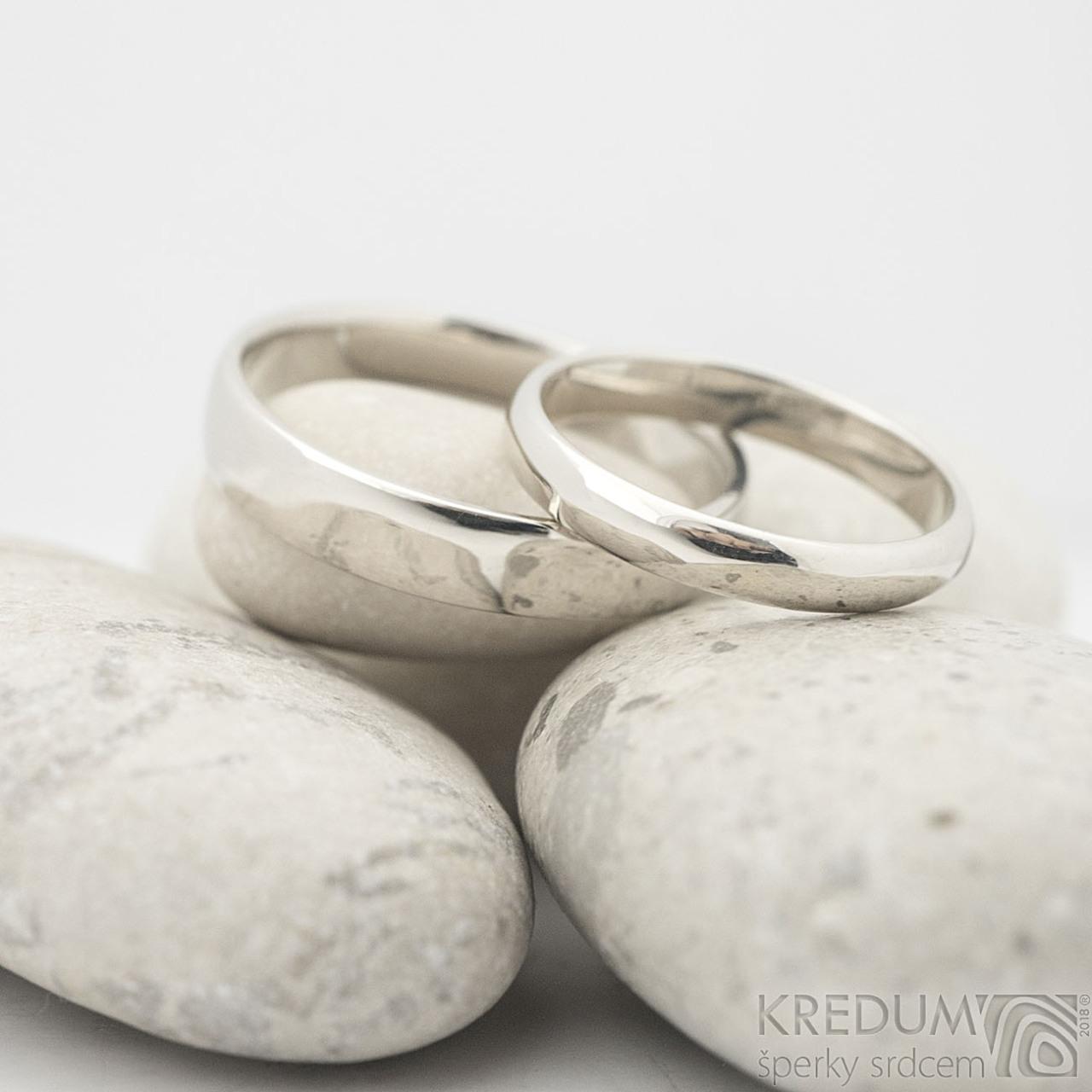 Klasik Gold White Zlaty Snubni Prsten Vyroba Hand Made Snubni