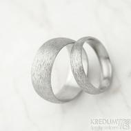 Klasik hrubý mat vel 52, š 4,5 mm, tl slabá, profil D a vel 61, š 8 mm, tl slabá, profil A - Nerezové snubní prsteny