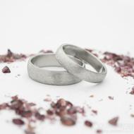 Klasik hrubý mat - velikost 54, šířka 4 mm a velikost 58, šířka 5 mm, profil B - Snubní prsteny z nerezové oceli