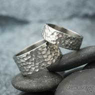 Klasik marro titan - velikost 56, šířka 7 mm a velikost 64, šířka 11 mm - Snubní prsteny z titanu - k 1860