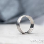Klasik - matný, vel 64,5, šířka 7 mmm, profil B půlčočka s boční ploškou - Kovaný nerezový snubní prsten - SK1728 (2)