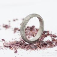 Klasik titan hrubý mat - kovaný titanový prsten, velikost 55, šířka 4 mm, tloušťka stěny 2 mm - profil B - produkt SK2766