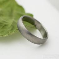 Klasik titan matný - velikost 61, šířka 5 mm, tloušťka 1,5 mm - Titanový snubní prsten