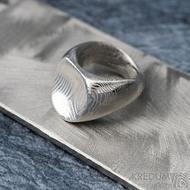 Klik - Kovaný damasteel prsten, velikost 49,  S328 (5)