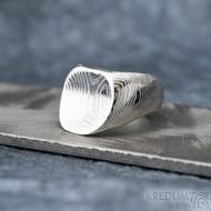 Klik - Kovaný damasteel prsten, velikost 49,  S328 (6)
