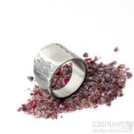 Klín - velikost 62, šířka 6,5 - 16,8 mm, zatmavený - Design nerezový snubní prsten, S2158 (5)