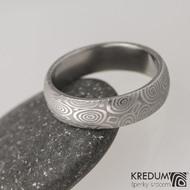 Snubní prsten damasteel Prima - kolečka, lept 50%