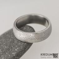 Snubní prsten damasteel Prima - kolečka, lept 25%