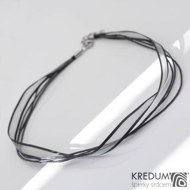 Kombinovaná textilní šňůrka KREDUM - černá