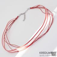 Kombinovaná textilní šňůrka KREDUM - červená