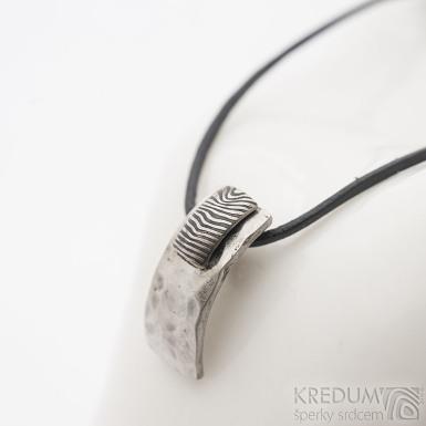 Kombinovaný přívěsek damasteel + ocel, SK2696