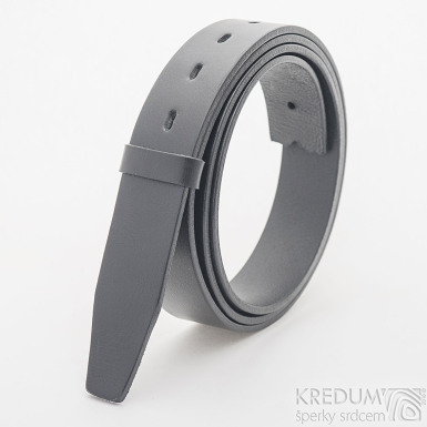 Kožený pásek 3,5X - délka 135 cm - barva černá