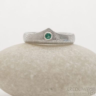 Královna a smaragd 2,5 mm do Ag, kolečka -  B, lept 75% SV, 51, šířka 3,5 mm a korunka 5,5 mm, tloušťka střední - k 2534 (3)