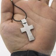 Křížek kovaný světlý - zadní strana - nerezová ocelk 2567
