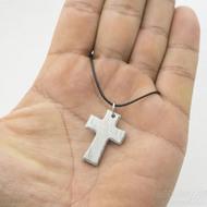 Křížek s očkem - Nerezová ocel damasteel - voda, produkt SK3036