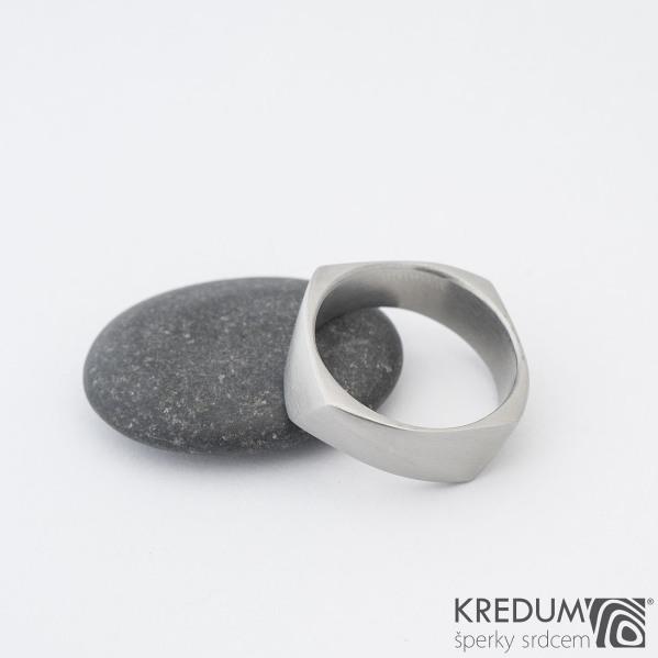 Kumali 68 7,5 1,8 mm - Nerezový prsten sk1290  (2)