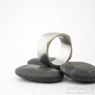 Kumali matný - velikost 64, šířka 11 mm, tloušťka 1,7 mm - Nerezové snubní prsteny, SK1289 (2)