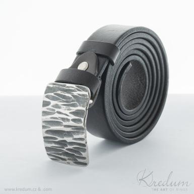 Kovaná nerez spona - Mistr 3X - Kant + kožený pásek 3X - SK4139