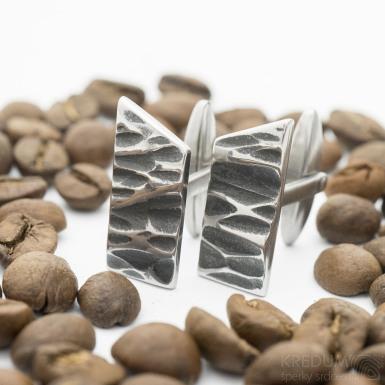 Kované manžetové knoflíčky nerez - Desk KANT