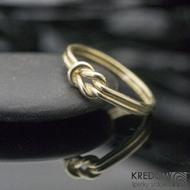 Marge Yellow - ambulantní uzel - Zlatý snubní prsten