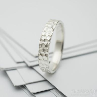 Marro silver - stříbrný snubní prsten