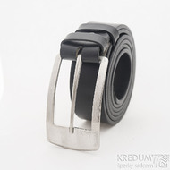 MEREDIUS a kožený pásek 3,5 cm - Luxusní damasteel spona na opasek, produkt SK2603