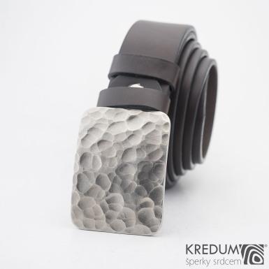 Mistr 3,5X - Draill matný - Kovaná nerez spona a kožený pásek, S2067