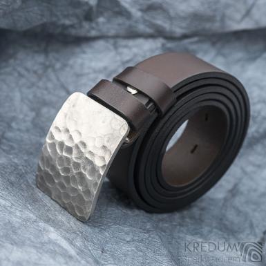 Mistr 3,5X - Draill světlý - Kovaná nerez spona a kožený pásek, SK1654