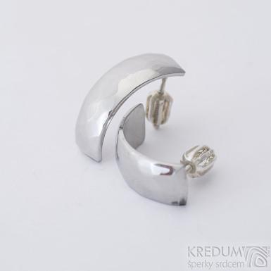Moon Skalák - Kované nerezové náušnice, SK1807