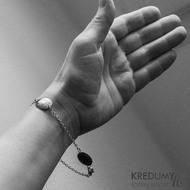 Puklík - Kovaný damasteel náramek, S1922