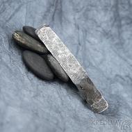 Natura Holde tmavá, základ 8 cm - Kovaná damasteel spona do vlasů, SK1627 (5)