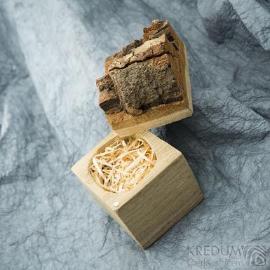 Natural wood - Originální dárková krabička na šperky, SK2006 (2)