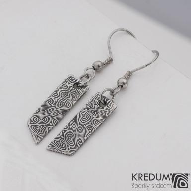 Kované damasteel náušnice - Klimb