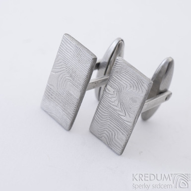 Pan Q - Kované manžetové knoflíčky damasteel, SK2315 (3)