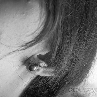 Perlové náušničky - Kiki black 8,5 mm