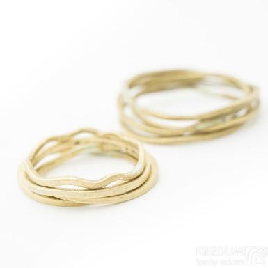 Golden Plain yellow - Zlatý snubní prsten