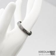 Prima 64 4,5 B - Damasteel snubní prsteny sk1301 (3)