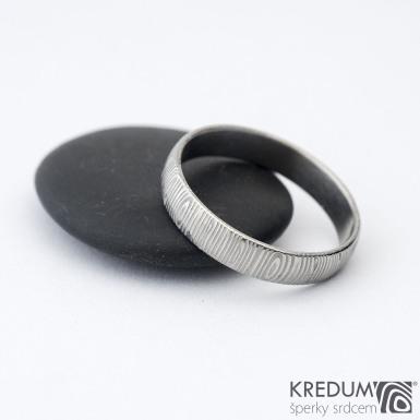 Prima 64 4,5 B - Damasteel snubní prsteny sk1301