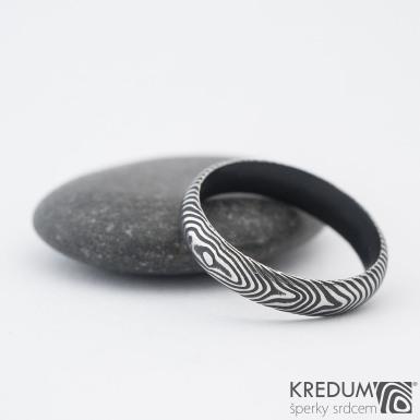 Prima DLC - 55 4 1,4 A - Damasteel snubní prsten sk1183