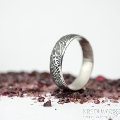 Prima line voda - vel 58, šířka 5,5 mm, tloušťka 1,4 mm, profil E, lept 75% TM - Damasteel snubní prsteny - sk2113 (4)