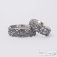 Prima, voda extra TM, profil D, dámský 6 mm, pánský 7 mm - Damasteel snubní prsteny