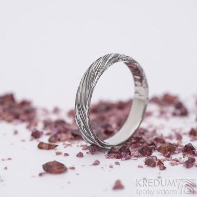 Prima, voda - velikost 55,5, šířka 3,8 mm, tloušťka 1,5 mm, 100% TM, B - Damasteel snubní prsten, SK2660 (6)